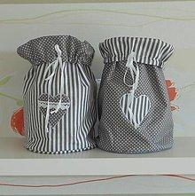 Úžitkový textil - Vrecká šedé/ 1ks - 6848850_