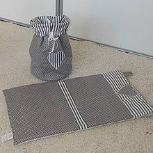 Úžitkový textil - Vreckár*Šedý*55x30 - 6848873_