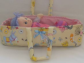 Hračky - Prenosná taška pre bábiku-Veselé zvieratká - 6848999_