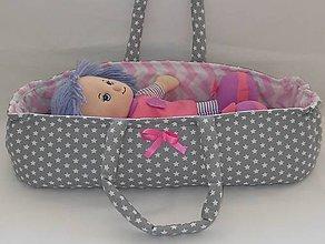 Hračky - Prenosná taška pre bábiku-Šedá - 6849020_