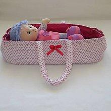 Hračky - Prenosná taška pre bábiku-Ružová - 6849040_