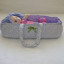 Hračky - Prenosná taška pre bábiku-Fialová - 6849050_