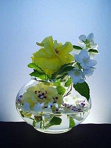 Dekorácie - váza - plochá koule-50% sleva - 6849357_