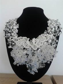 Náhrdelníky - náhrdelník zima - 6847418_
