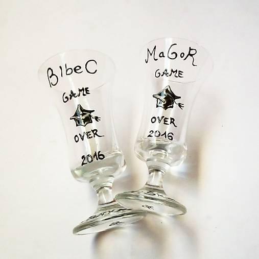 Maľované poháre k promócii - Mgr/Bc