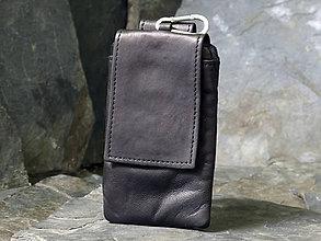 Iné tašky - Kožený obal na telefon - 6848638_