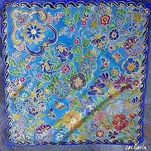 Šatky - Hodvábna maľovaná šatka -Srdcom v záhrade - 6847340_