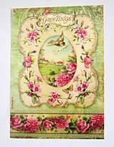 - Ryžový papier A4  Stamperia-Greetings - 6847450_