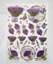 Papier - Ryžový papier Stamperia-levanduľky A4 - 6847463_