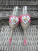 Svadobné poháre kárované