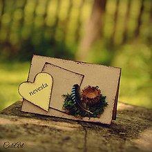 Darčeky pre svadobčanov - Svadba v lese II. - menovky pre svadobčanov aj s fotografiou - 6847556_