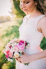 Kytice pre nevestu - Romantická svadobná kytica - 6848423_