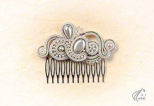 Ozdoby do vlasov - Say yes - šujtášový hrebienok - 6848543_
