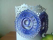 Náušnice - lila s glitrami - 6851468_