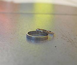 Prstene - Obrúčky tepané úzke - 6850170_