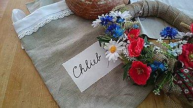 Úžitkový textil - Ľanové vrecko na chlebík - 6849411_