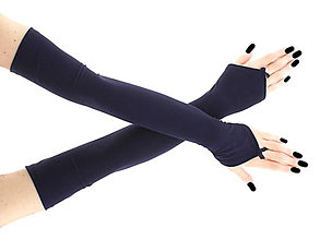 Rukavice - Dámské modré spoločenské rukavice 0025R5 - 6852920_