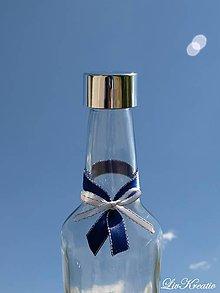Darčeky pre svadobčanov - Stužka na fľašu - Saténová s lurexom - 6852511_