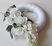 Dekorácie - Veniec na dvere Vintage Bielo - šedý. - 6851988_