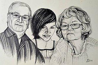 Kresby - Rodinný portrét na objednávku... - 6852925_