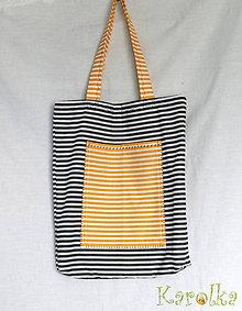 Nákupné tašky - Nákupná taška (pásikavá) - 6851026_