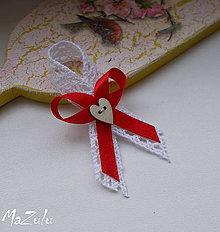 Pierka - svadobné pierko Vintage v červenom - 6852301_