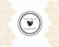 Drobnosti - Pečiatka svadobná 42 mm  - 6850361_