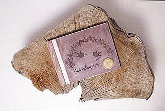 Papiernictvo - Svadobná kniha drevo, papier a koža - 6849424_