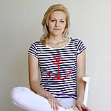 Tričká - Dámske tričko (Kotva červená) - 6849925_
