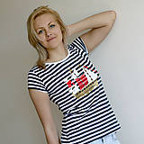Tričká - Dámske tričko (Loďka na modrom) - 6849941_