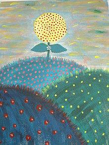 Obrazy - Tri zelené kopčeky - 6850203_