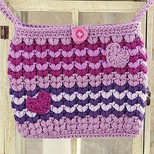 Kabelky - háčkovaná kabelka - fialová - 6850981_