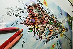 - Omaľovánka ilustrácia ''Do diaľky'' 1ks - 6852030_