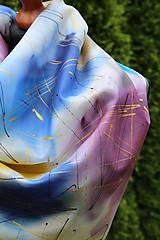 Šatky - Ručne maľovaná šatka 90 x 90 cm... - 6849964_