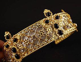 Ozdoby do vlasov - Dolce White Queen barokní ... čelenka - 6853621_