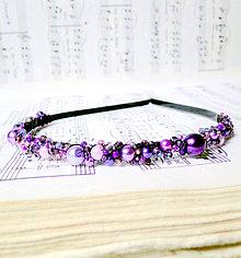 Ozdoby do vlasov - Violet & Pink II. - 6854909_