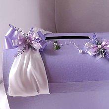 Darčeky pre svadobčanov - svadobná pokladnička velká- levandule - 6856012_