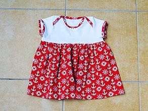 Detské oblečenie - Námornícke šatôčky - 6856036_