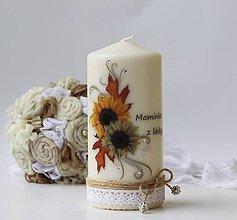 Svietidlá a sviečky - Dekoračná sviečka - pre maminku - 6856104_