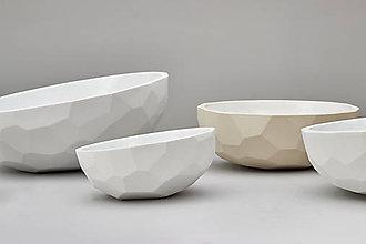 Nádoby - Figurate mísa, M - béžová, keramická miska, misa - 6855092_