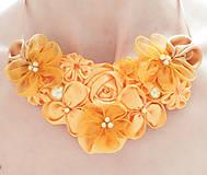 - Tmavožltý horčicovo-zlatý náhrdelník - 6853388_