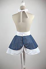 Iné oblečenie - ŠATOVÁ KUCHYNSKÁ ZÁSTERA RETRO BLUE CHIC - 6854658_