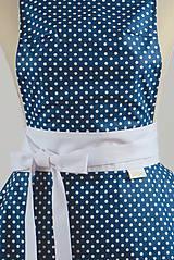 Iné oblečenie - ŠATOVÁ KUCHYNSKÁ ZÁSTERA RETRO BLUE CHIC - 6854659_