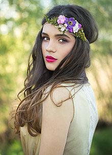 Ozdoby do vlasov - Kvetinová retro čelenka