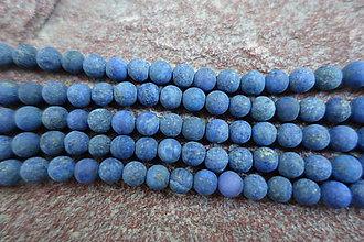 Minerály - Lapis Lazuli matný 6mm - 6853728_