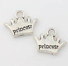 Komponenty - Prívesok korunka princess - 6855289_