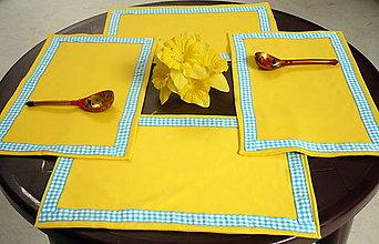 Úžitkový textil - Prestieranie žlté - 6856279_