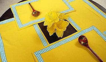 Úžitkový textil - Prestieranie žlté - 6856285_