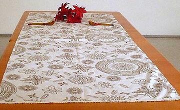 Úžitkový textil - Obrus béžový - 6856319_