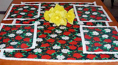Úžitkový textil - Obrus vianočný pestrofarebný - 6856372_